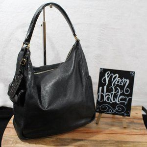 Yves Saint Laurent Pebbled & Patent Leather Purse